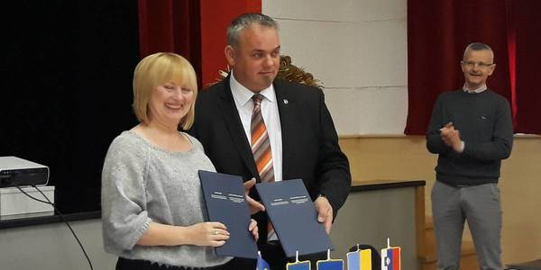 Bilayivska AH signed an agreement on cooperation with the Slovenian community