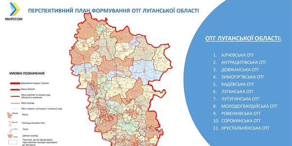 Government presents future formation of hromadas in occupied part of Luhansk Oblast