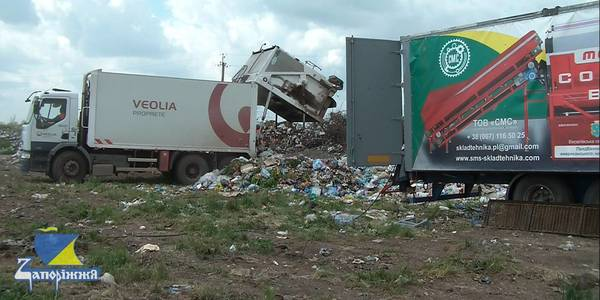 Mobile line for sorting solid waste started working in Veselivska AH