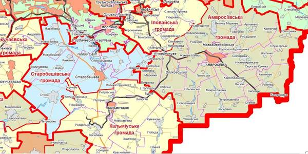 Occupied Donetsk Oblast's territory was divided into potential hromadas