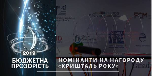 Who has chance to win Crystal of the Year 2019 award? Hromadas-budget transparency rate nominees