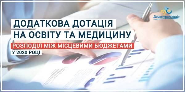 How did the Oblast State Administrations distribute the additional education and healthcare subvention among local budgets in 2020