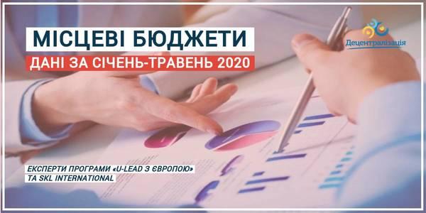 Місцеві бюджети: дані за січень-травень 2020 року