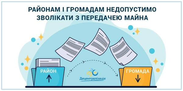 It is unacceptable for rayons and hromadas to delay in property transfer, - online-meetings with regions are going on at the MinRegion
