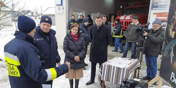 Kosmach hromada has obtained volunteer fire department equipment from Polish partners