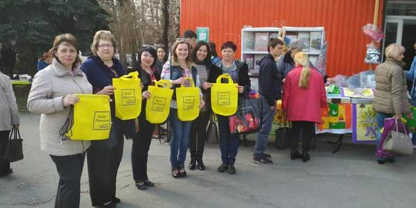 Youth of Krynychanska AH created uniquely designed eco-bags