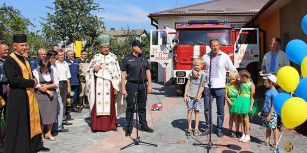 One of village fire brigades in Ternopil Oblast renovated