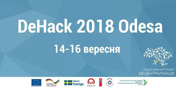 ANNOUNCEMENT! DeHack hackathon 2018 to be held on 14-16 September in Odesa