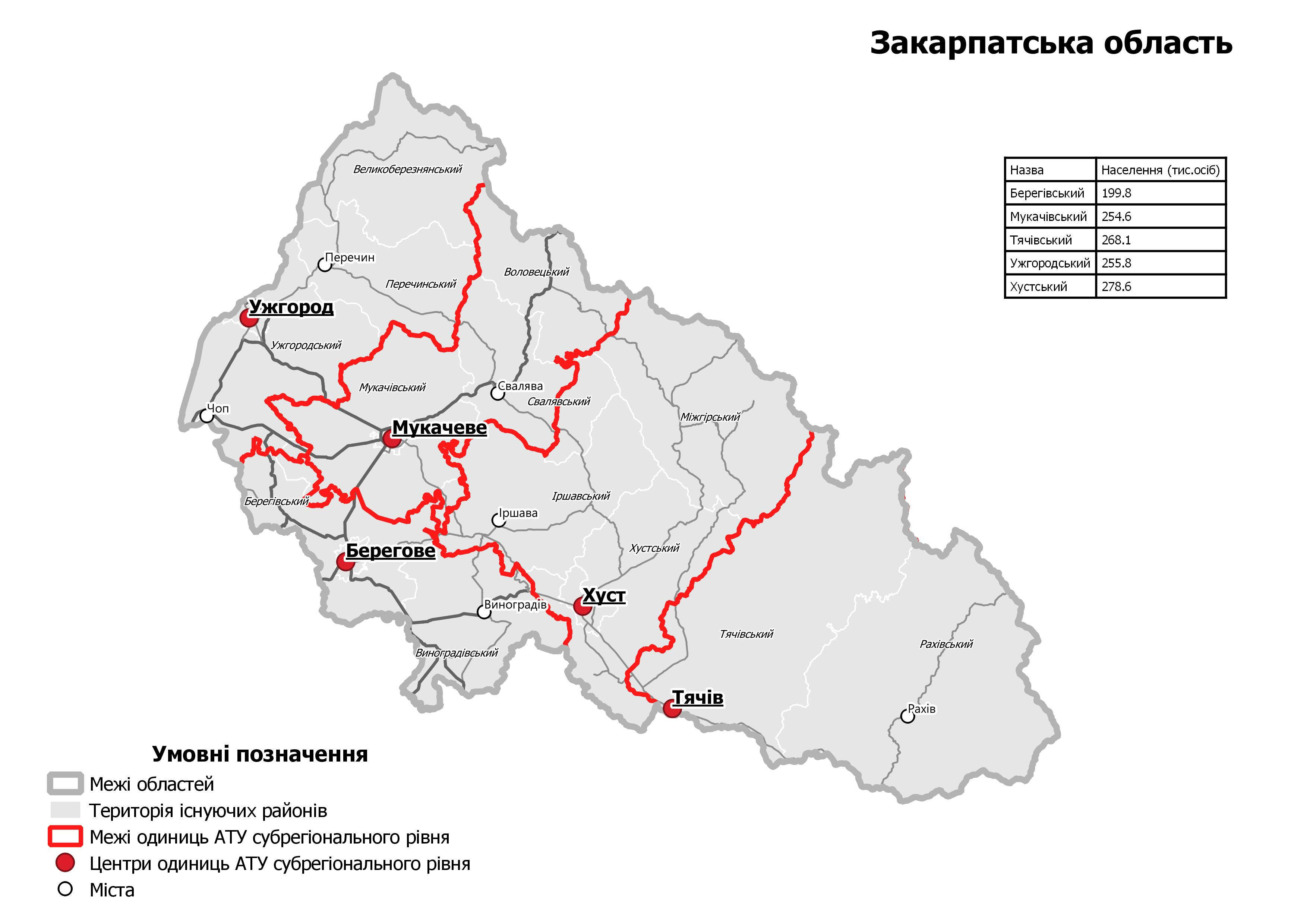 The MinRegion has publicized drafts of the future rayons of Ukraine. Changes are still possible
