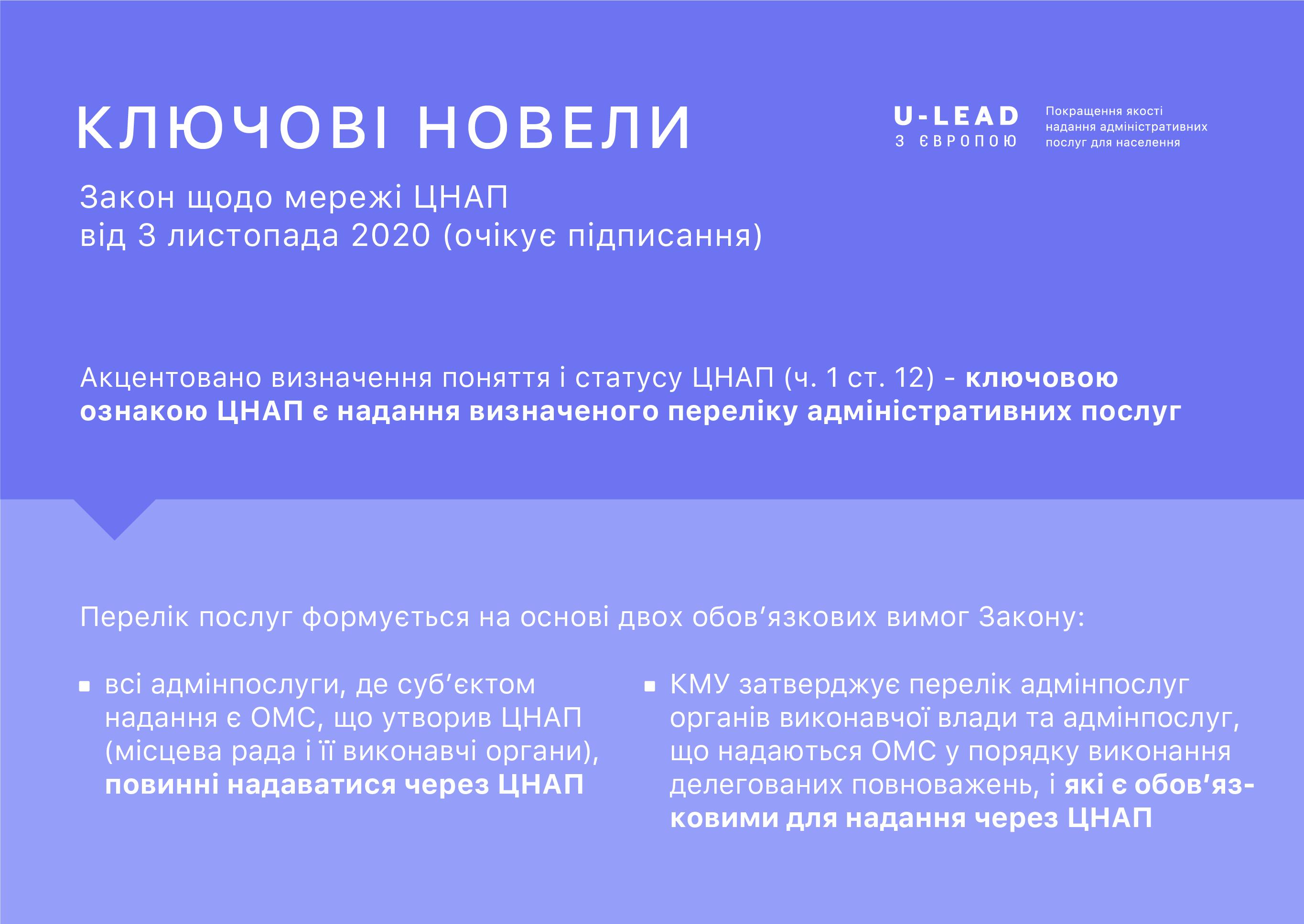 9 листопада - онлайн-обговорення нововведень законопроекту про мережу ЦНАП
