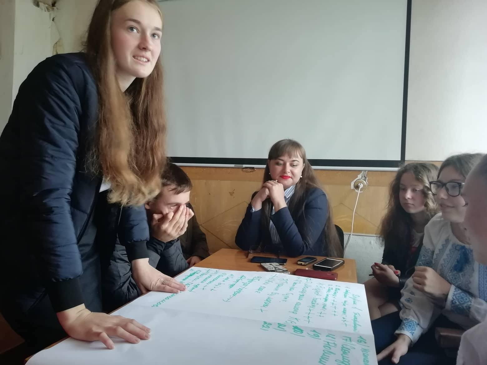 Young people of Bilokorovytska AH are working out hromada development ideas